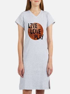 Live, Love, Play - Basketball Women's Nightshirt