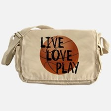 Live, Love, Play - Basketball Messenger Bag