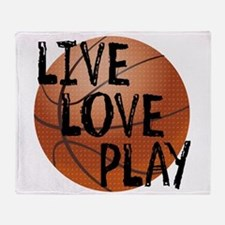Live, Love, Play - Basketball Throw Blanket