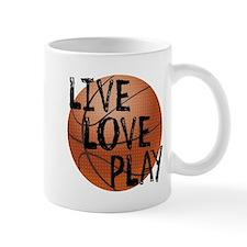 Live, Love, Play - Basketball Mugs