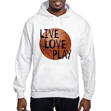 Live, Love, Play - Basketball Hoodie