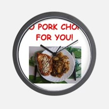 pork chops Wall Clock