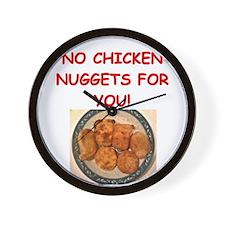 chicken nuggets Wall Clock