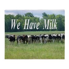 Milk Cows Throw Blanket
