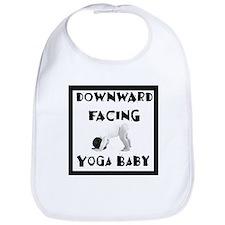 Downward Facing Yoga Baby Bib