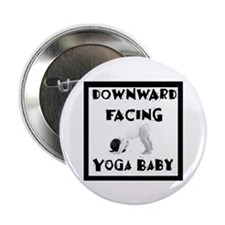"""Downward Facing Yoga Baby 2.25"""" Button (100 pack)"""