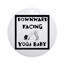 Downward Facing Yoga Baby Ornament (Round)
