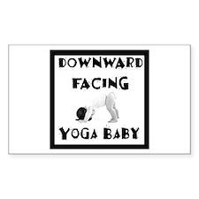 Downward Facing Yoga Baby Rectangle Decal