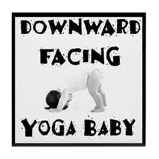 Downward Facing Yoga Baby Tile Coaster