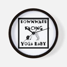Downward Facing Yoga Baby Wall Clock