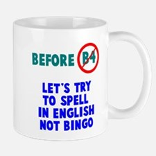 We speak English no bingo Mugs