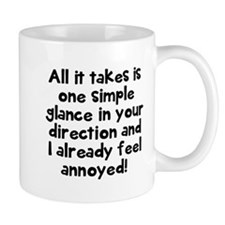 One simple glance annoyed Mugs
