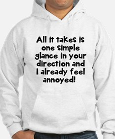 One simple glance annoyed Hoodie