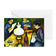 August Macke - Three Women at the Ta Greeting Card