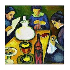 August Macke - Three Women at the Tab Tile Coaster