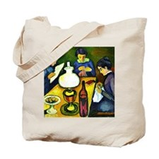 August Macke - Three Women at the Table b Tote Bag