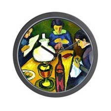 August Macke - Three Women at the Table Wall Clock