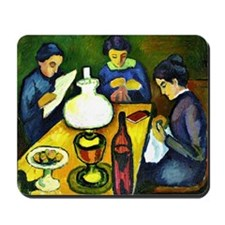 August Macke - Three Women at the Table  Mousepad