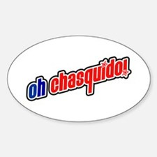 oh chasquido! (oh snap!) Oval Decal