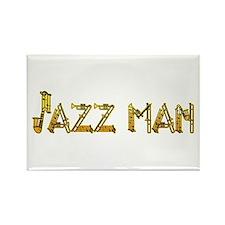 Jazz man sax saxophone Rectangle Magnet