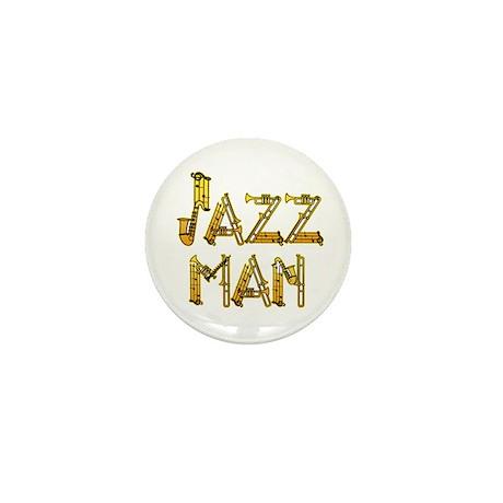 Jazz man sax saxophone Mini Button