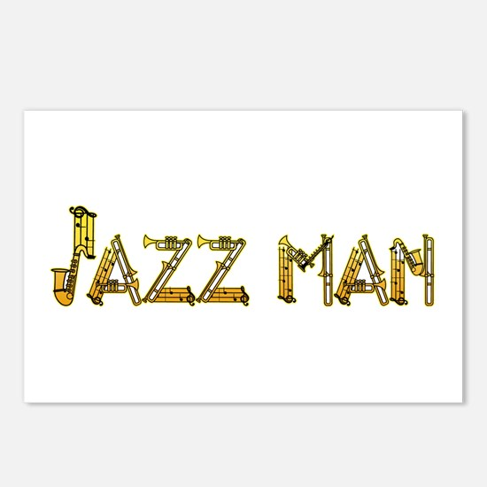 Jazz man sax saxophone Postcards (Package of 8)