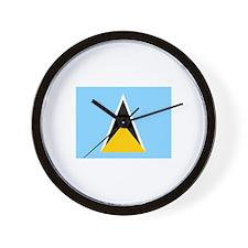St. Lucia Flag Wall Clock