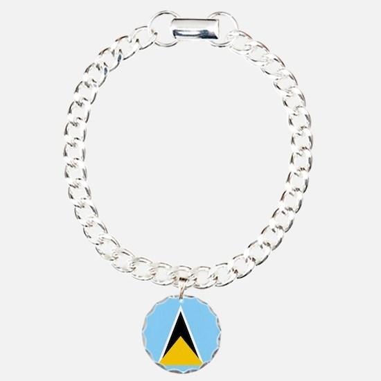 St. Lucia Flag Bracelet