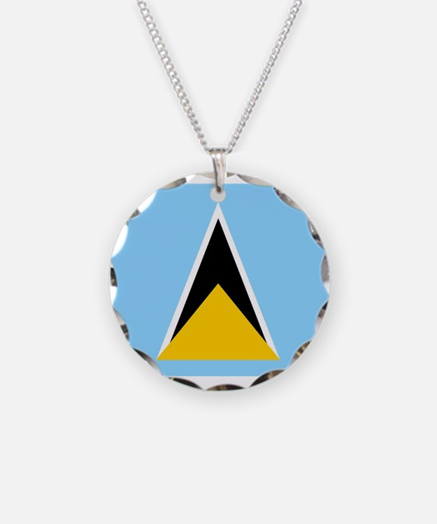 St. Lucia Flag Necklace