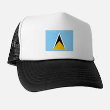 St. Lucia Flag Trucker Hat