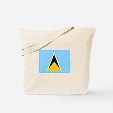 St. Lucia Flag Tote Bag