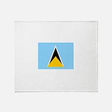 St. Lucia Flag Throw Blanket