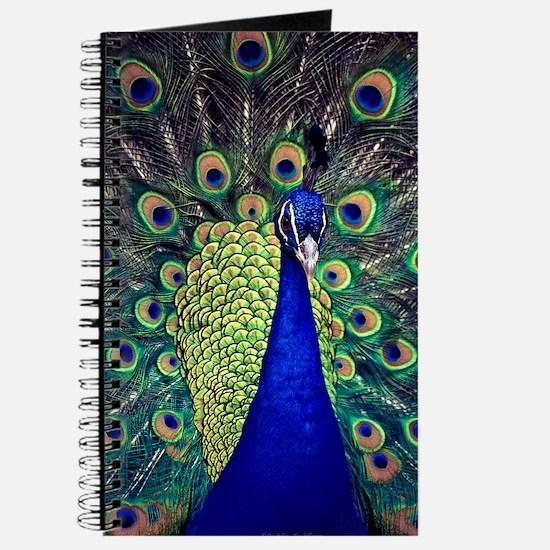 Cobalt Blue Peacock Journal