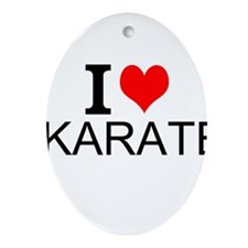 I Love Karate Ornament (Oval)