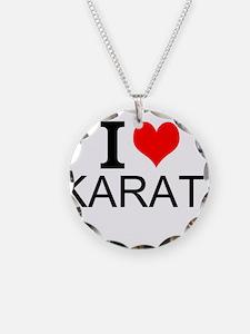 I Love Karate Necklace