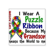 -Grandson Means The World To Me Autism Sticker