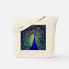 Cobalt Blue Peacock Tote Bag
