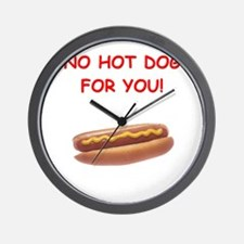 hot dogs Wall Clock