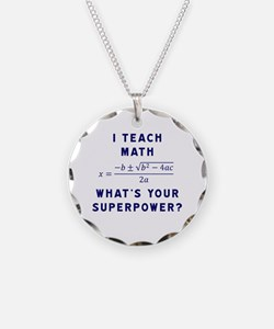 I Teach Math / What's Your S Necklace