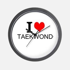 I Love Taekwondo Wall Clock