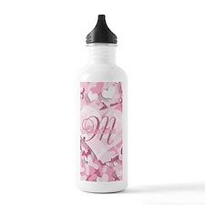 Monogram Pink Camouflage Heart Water Bottle