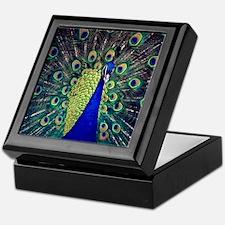 Cobalt Blue Peacock Keepsake Box