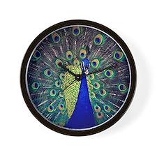 Cobalt Blue Peacock Wall Clock