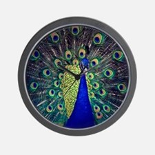 Cobalt Blue Peacock Wall Clock