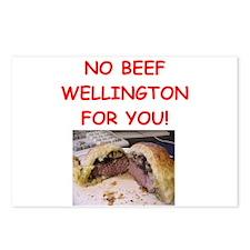 BEEF WELLINGTON Postcards (Package of 8)