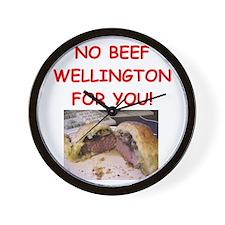 BEEF WELLINGTON Wall Clock