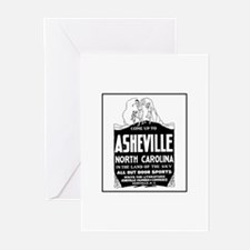 Asheville NC - Vintage Ad Greeting Cards (Package