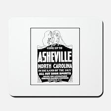 Asheville NC - Vintage Ad Mousepad