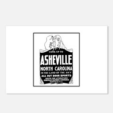 Asheville NC - Vintage Ad Postcards (Package of 8)