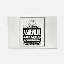 Asheville NC - Vintage Ad Rectangle Magnet